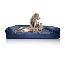 FurHaven Orthopedic Quilted SofaStyle Couch Pet Bed for Dogs and Cats Navy Jumbo