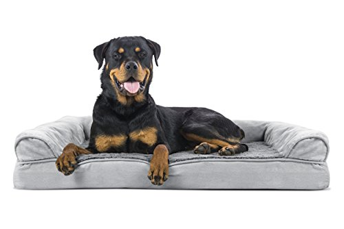 Furhaven Pet Orthopedic Sofa Pet Bed Jumbo Gray
