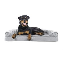 Furhaven Pet Orthopedic Sofa Pet Bed Jumbo Gray