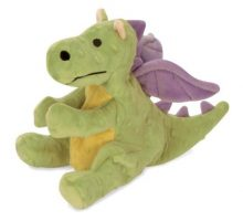 goDog Dragon With Chew Guard Technology Tough Plush Dog Toy Lime Large