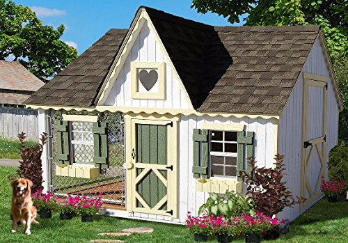 Little Cottage Company Victorian Cozy Kennel Panelized Playhouse Kit 8' x 10'