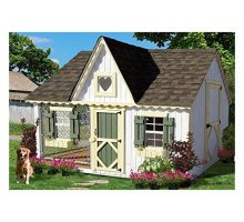 Little Cottage Company Victorian Cozy Kennel Panelized Playhouse Kit 8′ x 10′