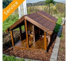 Outdoor Dog House Assembly