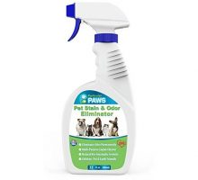 Pet Stain and Odor Remover  Professional Strength Triple Action Enzyme Spray Eliminates Dog and Cat Urine Stains and Smells  32 oz