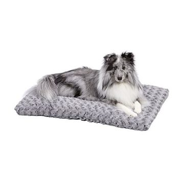 Plush Dog Bed | Ombré Swirl Dog Bed & Cat Bed | Gray 29L x 21W x 2HInches for Medium Dog Breeds
