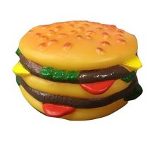 Rubie Squeaky Cheeseburger Dog Pet Toy Vinyl
