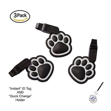 4GUYS Pet ID Tag Easy Change Connector for Personalized ID Tag EZ Clip No Metal and Silent One Size Fits All Dogs and Cats No Tools Needed