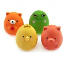 """Chiwava 4PCS 24"""" Squeak Latex Puppy Toy Funny Animal Sets Pet Interactive Play for Small Dog Assorted Color"""