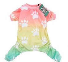 CuteBone Dog pajamas Dog Apparel Dog Jumpsuit Gradient color Pet Clothes Pajamas P09S