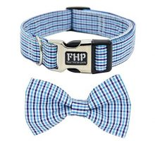 Fourhorse Cute Soft Dog And Cat Collar with Bowtie Detachable Adjustable Bow Tie Collar Pet Gift