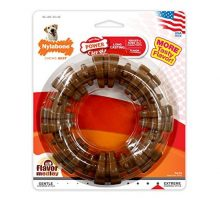 Nylabone Dura Chew Power Chew Textured Ring Souper Large Dog Chew Toy Flavor Medley