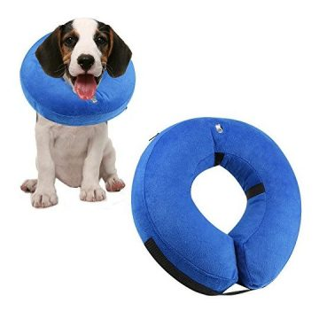 ONSON Protective Inflatable Dogs Collar Soft Pet Recovery ECollar for Small Medium Large Dogs and Cats Designed to Prevent Pets from Touching Stitches