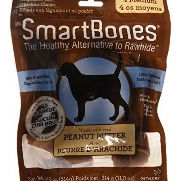 SmartBones RawhideFree Dog Chews Made With Real Peanut Butter