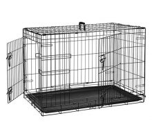 AmazonBasics DoubleDoor Folding Metal Dog Crate  36 Inches