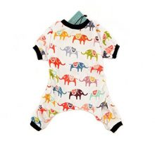 CuteBone Dog Pajamas Elephant Dog Apparel Dog Jumpsuit Pet Clothes Pajamas P03L
