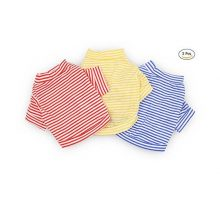 DroolingDog Dog Clothes Pet Striped TShirt Plain Puppy Apparel for Small Dogs Large Pack of 3