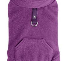 EXPAWLORER Fleece Autumn Winter Cold Weather Dog Vest Harness Clothes Pocket Purple Medium