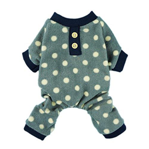Fitwarm Adorable Polka Dots Fleece Dog Pajamas Pet Coats Soft Pjs Apparel XXlarge