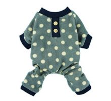 Fitwarm Adorable Polka Dots Fleece Dog Pajamas Pet Coats Soft Pjs Apparel XXlarge
