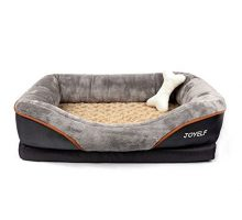 JOYELF Memory Foam Dog Bed Small Orthopedic Dog Bed & Sofa with Removable Washable Cover and Squeaker Toy as Gift