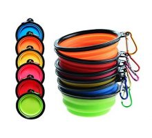 Tiger Mama Collapsible Dog Bowls Set of 6 Silicone BPA Free Foldable Travel Dog Bowl for Feed and Water