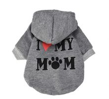 Howstar Pet Clothes Puppy Hoodie Sweater Dog Coat Warm Sweatshirt Love My Mom Printed Shirt