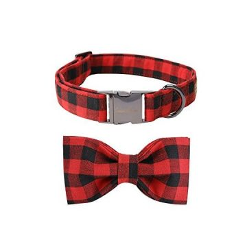 Pet Soft &Comfy Bowtie Dog Collar And Cat Collar Pet Gift For Dogs And Cats 6 Size And 7 Patterns