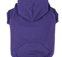 Zack & Zoey Polyester Cotton Basic Dog Hoodie Medium 16Inch Ultra Violet