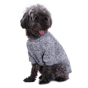 Bwealth Dog Clothes Soft Pet Apparel Thickening Fleece Shirt Warm Winter Knitwear Sweater for Small and Medium Pet