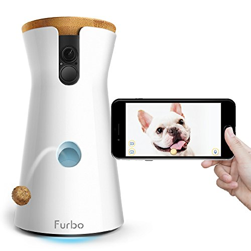Furbo Dog Camera Treat Tossing Full HD Wifi Pet Camera and 2Way Audio Designed for Dogs Compatible with Alexa