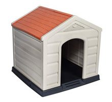 Internet's Best Outdoor Dog House | Medium or Large Dogs | Comfortable Cool Shelter | Durable Plastic Design | Home Kennel | Indoor or Outdoor Use | Large
