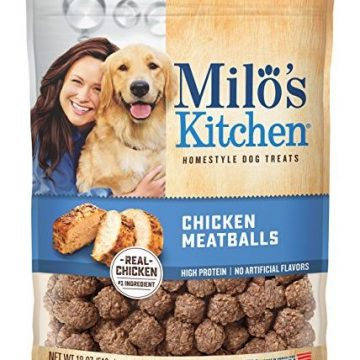 Milo Kitchen Chicken Meatballs Dog Treats 18Ounce