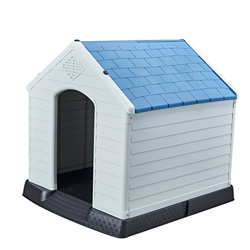 SENYEPETS Outdoor Waterproof Plastic Dog House Small to Large Pet All Weather Dog House Puppy Shelter