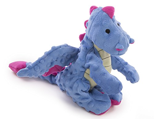 goDog Dragons Periwinkle Dog Toy with Chew Guard Technology Large