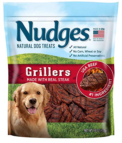 Nudges Steak Grillers Dog Treats 18 oz
