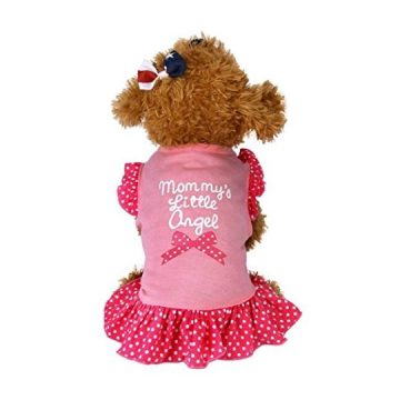 vmree Dog Apparel Small Dog Cat Pet Dress Clothes Fly Sleeve Dress