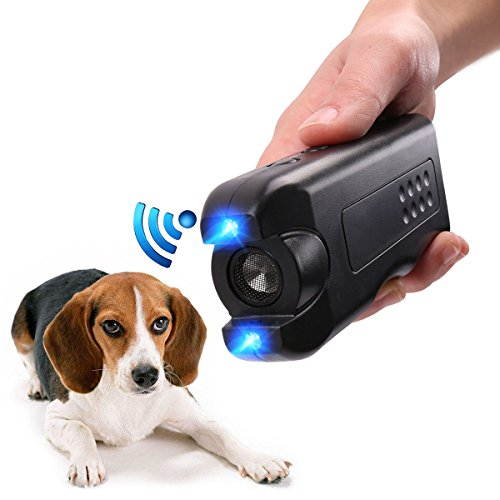 APlus+ Handheld Dog Repellent Ultrasonic Infrared Dog Deterrent Bark Stopper + Good Behavior Dog Training
