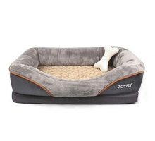JOYELF Large Memory Foam Dog Bed Orthopedic Dog Bed & Sofa with Removable Washable Cover and Squeaker Toy as Gift