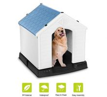 Plastic Dog House Waterproof Dog Kennel Pet House for Indoor Outdoor Use Dog Favorite HouseMedium Size