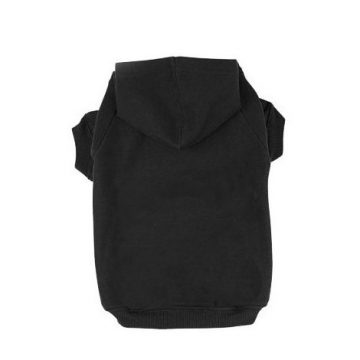 BINGPET Blank Basic Cotton Polyester Pet Dog Sweatshirt Hoodie BA1002 Black Extra large