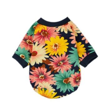 Fitwarm Fashion Summer Floral Dog Tshirt for Pet Dog Clothes Cozy Apparel Small