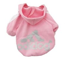 Idepet Soft Cotton Adidog Cloth for Dog S Pink