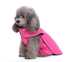 Scheppend Dog Coats Winter Puppy Warm Fleece Jacket Clothes Windproof Doggy Cold Weather Vest Harness Flannel Magic Tape Dog Sweater Pet Apparel Sweatshirt