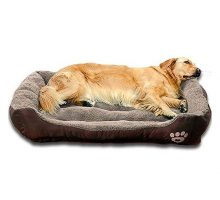 Auboa Big pet Dog cat Bed | Waterproof Nonslip Dog Play House mat Sofa for Sleeping&Resting(LargeCoffee