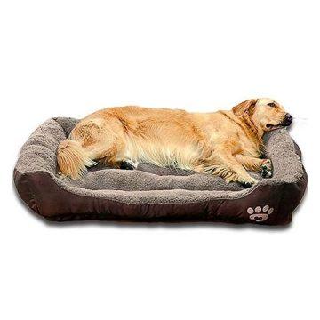 Auboa Big pet Dog cat Bed   Waterproof Nonslip Dog Play House mat Sofa for Sleeping&Resting(LargeCoffee