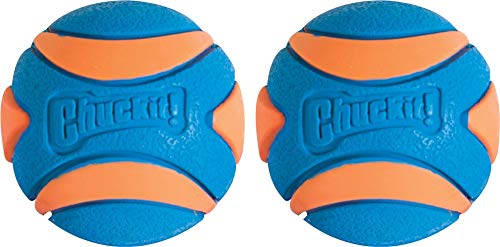 Chuckit! Ultra Squeaker Dog Ball High Bounce Blue Orange 3 sizes