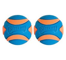 Chuckit! Ultra Squeaker Dog Ball High Bounce Blue Orange 3 sizes