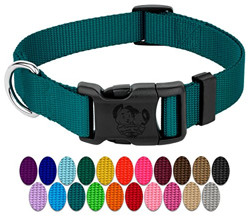 Country Brook Petz | Vibrant 21 Color Selection | Deluxe Nylon Dog Collar