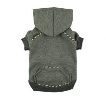 Fitwarm Fleece Sweatshirts for Dog Coats Pet Hooded Jackets Grey Small