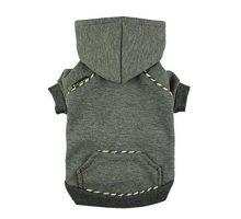 Fitwarm Fleece Sweatshirts for Dog Coats Pet Hooded Jackets Grey Small